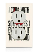 I Cook With Wine Art Electrical Outlet Plate