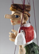 Pinocchio Hand Carved Marionette S Size made in Czech Republic