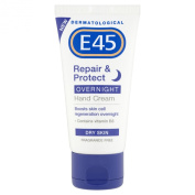 E45 Dermatological Repair and Protect Overnight Hand Cream 50 ml