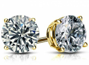 1 Ctw Diamond (H-I1) Studs in 14k Yellow Gold