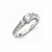 Jewellery Best Seller Sterling Silver & CZ Brilliant Embers Ring
