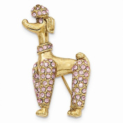 Best Birthday Gift Gold-tone Pink .  Elements Poodle Pin