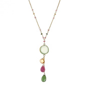 Component Vintage Chalcedony 18k Gold over Solid .925 Silver Necklace
