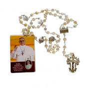 Basilica Rosary Crystal Faceted Beads & Silver Plated Free Hc Blessed During Pope Francis Inauguration