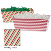 Medium Gift Tray Basket - Holiday Stripe