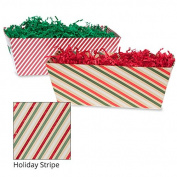 Small Gift Tray Basket - Holiday Stripe