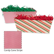 Small Gift Tray Basket - Candy Cane Stripe