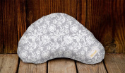 Littlebeam LBNP26 Floral Grey Nursing Pillow, Exclusive Collection