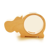 Baidecor Wood Hippo Money Box Piggy Bank
