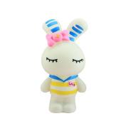 Baidecor PVC Yellow Stripe Rabbit Money Box Piggy Bank