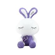 Baidecor Resin Purple Lovely Rabbit Money Box Piggy Bank