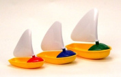 New! Cute set of three stackable sailboats toy for kids