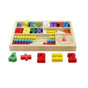 Nothing but Quality:Wooden Toys Digital Learning Box Boxes Intellectual Building Block Toys Early Education