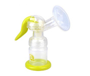 Gland®Single Manual Breast Pump - Quiet, Comfortable, And Sanitary, BPA Free, Green