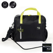 WALKING MUM Urban Baby Changing Bag, Black