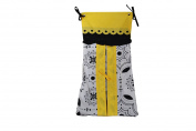 DK Leigh Black White & Yellow Nappy Stacker NEW