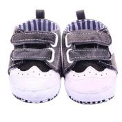 DZT1968® Baby Infant Toddler Canvas Soft Sole Anti Slip Denim Prewalker Shoes Sneakers (S