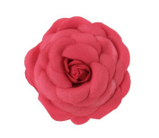 Set of 3 Beautiful Rose Kids Brooch Lovely Sweater Hat Corsage Pin Clips Red