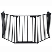 Generic Baby Pet Dog Cat Safety Fireplace Fence Guard Screen Hearth Fire Gate Metal Plastic