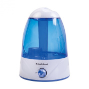 HealthSmart Cosmo Mist Cool Mist Ultrasonic Humidifier, Whisper Quiet, Runs 50 Hours, Filter Free, Blue
