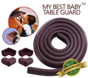★ Best Baby Table Guard ★ My Baby Table Guard™ ★ 4.9m Long + 4 Corner Guard ★ Protect Your Child while they Learn to Crawl or Walk ★ Extra Long ★ Extra Dense ★Extra ..