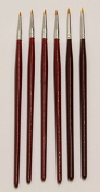 The Art Shop Skipton Artists Fine Detail Brush Set Of 6 , Artists, Modellers, Miniatures Painting