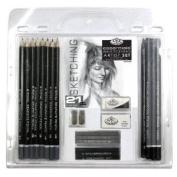 Royal & Langnickel Artist Essentials Sketching Pencil Set , 21Pc