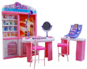 Luxurious Barbie Doll House Living Room Furniture Set-Cosmetic Centre