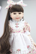 Npkdoll Lovely Girl Toy Doll High Soft Vinyl 18inch 45cm Lifelike Movable Smile Princess Flower Dress