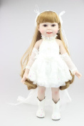 Npkdoll Lovely Girl Toy Doll High Soft Vinyl 18inch 45cm Lifelike Movable Smile Princess Wedding Bride