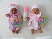 Baby Dolls 2 Mini Toysmith Baby Dolls African American Plus Disappearing Milk Baby Doll Bottle Ages 3yrs +