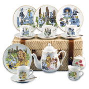 Reutter Porcelain Large Wizard Of Oz Tea Set In A Case