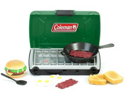 Green Coleman® 46cm Doll Camping Stove & Food Set with Frying Pan Perfect for American Girl Dolls & More! 46cm Doll Green Coleman® Campfire Stove and Food Set