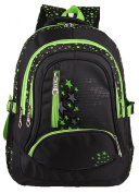 High Quality Black Double Shoulders Backpack Nice for Middle School Student