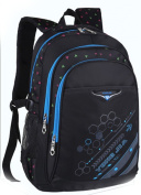 High Quality Nylon Black Double Shoulders Backpack