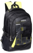 Black Nylon Double Shoulders Backpack Nice for Middle School Student