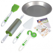 Curious Chef 5 Piece Pie Making Kit, Child, Green/White