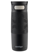 Contigo AUTOSEAL Transit Stainless Steel Travel Mug, 470ml, Matte Black with Black Accent Lid