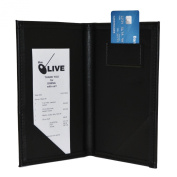 10 Pack - Deluxe Guest Cheque Holder - Black w/ Matching Interior Pockets
