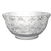 Party Essentials N124563 Hard Plastic 11.4l Embossed Punch Bowl, Clear