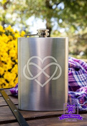 Heart With Infinity Knot 240ml Stainless Steel Flask