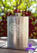 Zebra Print Heart 240ml Stainless Steel Flask