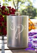 Music Note Heart 240ml Stainless Steel Flask