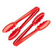 Mercer Hell's Tools Red Nylon 24cm Utility Tongs, Set of 2