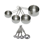 Chefland 8-piece Deluxe Stainless Steel Measuring Cup and Measuring Spoon Set