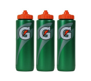 Gatorade 950ml Squeeze Water Sports Bottle, Classic Design, 3-Pack