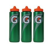 Gatorade 950ml Squeeze Water Sports Bottle, Classic Design, 3-Pack