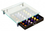 DecoBros Crystal Tempered Glass Nespresso Storage Drawer Holder for Capsules