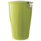 Tea Forte KATI Single Cup Loose Leaf Tea Brewing System, Insulated Ceramic Cup with Tea Infuser and Lid, Pistachio Green - NEW Infuser Design