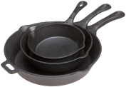 Skillet Set - Pre Seasoned 3 Piece Cast Iron set - 6.5, 8, 27cm By Old Mountain
